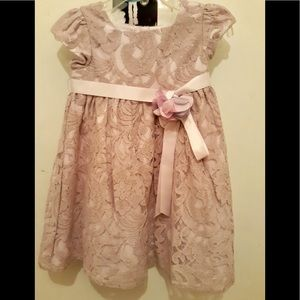 LAURA ASHLEY LAVENDER GIRL LACE DRESS